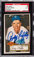 Autographs:Sports Cards, Signed 1952 Topps Andy Pafko #1 SGC Authentic. ...