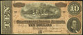 Confederate Notes, Serial Number 29 No Series Note T68 $10 1864 PF-1 Cr. 540.. ...