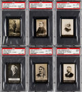 Non-Sport Cards:Lots, 1900-1901 Ogden's Guinea Gold Famous People PSA-Graded Group (6). ...