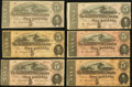 Confederate Notes, T69 $5 1864 Eleven Examples.. ... (Total: 11 notes)
