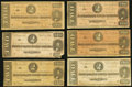 Confederate Notes, T70 $2 1864 Six Examples.. ... (Total: 6 notes)