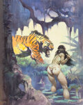 Original Comic Art:Paintings, Frank Frazetta Escape on Venus Painting Original Art(1972)....