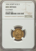 Classic Quarter Eagles, 1836 $2 1/2 Script 8 -- Cleaned -- NGC Details. Unc. Breen-6143, Variety 11, R.2....
