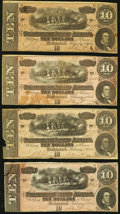 Confederate Notes, T68 $10 1864 Eight Examples.. ... (Total: 8 notes)