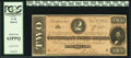 Confederate Notes, T70 $2 1864 PF-5 Cr. 567.. ...