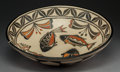 American Indian Art:Pottery, A Contemporary Santo Domingo Polychrome Dough Bowl. RobertTenorio...