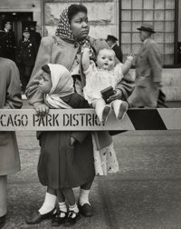 Marvin Newman (American, b. 1927) Parade, Chicago, 1951 Gelatin silver 9-1/2 x 7-1/2 inches (24.1