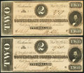 Confederate Notes, T70 $2 1864 PF-5 Cr. 567, Two Consecutive Examples.. ... (Total: 2 notes)