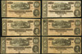 Confederate Notes, T68 $10 1864 Six Examples.. ... (Total: 6 notes)