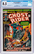 Bronze Age (1970-1979):Superhero, Marvel Spotlight #5 Ghost Rider (Marvel, 1972) CGC VF+ 8.5Off-white to white pages....