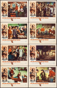 "The Man Who Shot Liberty Valance (Paramount, 1962). Lobby Card Set of 8 (11"" X 14""). Western. ... (Total: 8 It..."