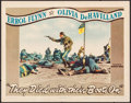 """Movie Posters:Western, They Died with Their Boots On (Warner Brothers, 1941). Lobby Card (11"""" X 14""""). Western.. ..."""