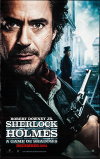 """Sherlock Holmes: A Game of Shadows (Warner Brothers, 2011). Vinyl Banner Set of 2 (60"""" X 96) SS Advance. Mystery..."""