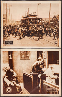 """The World Aflame & Other Lot (Pathé, 1919). Laminated Lobby Cards (2) (11"""" X 14""""). Drama. ... (Tota..."""