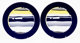 Roy Lichtenstein (1923-1997) Untitled, set of two plates, c. 1990 Ceramics in colors with glazing 12-1/4 inch (31.1 c...