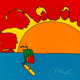 Peter Max (b. 1937) Sunset Sailing, 1997 Serigraph in colors on paper 11 x 11 inches (27.9 x 27.9 cm) (sheet) Ed. 20