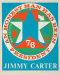 Prints & Multiples, Robert Indiana (1928-2018). An Honest Man Has Been President: A Portrait of Jimmy Carter, 1980. Screenprint in colors on...