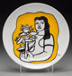 After Fernand Léger Untitled (Woman in yellow), c. 1970s Porcelaine Chauvigny plate in colors 9-1/2 inch (24.1 cm...