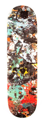 After Jackson Pollock X The Hundreds Jackson Pollock Skateboard Deck, 2017 Offset lithograph in colo