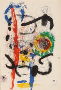 Fine Art - Work on Paper:Print, Joan Miró (1893-1983). La Cascada, 1964. Lithograph incolors on Arches paper. 35-1/4 x 24 inches (89.5 x 61.0 cm)(shee...