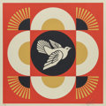 Fine Art - Work on Paper:Print, Shepard Fairey (b. 1970). Dove Geometric (Red, Gold, and Cream) (three works), 2017. Screenprints in colors along lower ... (Total: 3 Items)