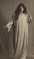 Photographs:Gelatin Silver, Arnold Genthe (American, 1869-1942). Julia Marlowe as Ophelia in Hamlet, circa 1916. Gelatin silver. 9 x 5-1/4 inches (2...