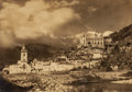 Photographs:Gelatin Silver, Arnold Genthe (American, 1869-1942). Dolceacqua with 15th Century Dolia Castle. Gelatin silver. 9-1/4 x 13 inches (23.5 ...