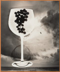 Photographs:Gelatin Silver, Jerry Uelsmann (American, b. 1934). Untitled (Wine glass and sky), 1995. Gelatin silver. 5-1/2 x 4-1/2 inches (14.0 x 11...