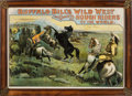 "Advertising:Signs, William F. ""Buffalo Bill"" Cody's Wild West & Congress of Rough Riders of the World Poster: A Possibly Unique Poster Depicting ..."