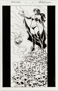 Reilly Brown and Nelson Decastro Deadpool: The Gauntlet Infinite Comic #4 Cover/Splash Page Original Art (Marvel