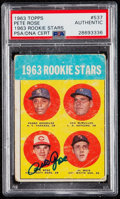 Autographs:Sports Cards, Signed 1963 Topps Pete Rose - 1963 Rookie Stars #537 PSA/DNAAuthentic. . ...
