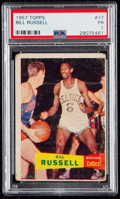 Basketball Cards:Singles (Pre-1970), 1957 Topps Bill Russell #77 PSA Poor 1....