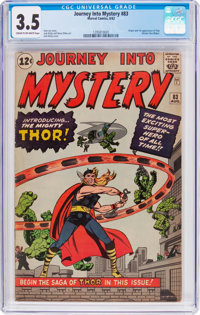 Journey Into Mystery #83 (Marvel, 1962) CGC VG- 3.5 Cream to off-white pages