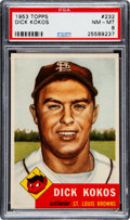 Baseball Cards:Singles (1950-1959), 1953 Topps Dick Kokos (SP) #232 PSA NM-MT 8....