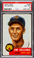 Baseball Cards:Singles (1950-1959), 1953 Topps Jim Delsing (SP) #239 PSA NM-MT 8 - Only ThreeHigher....