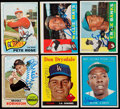 Autographs:Sports Cards, 1958-68 Topps Signed Stars & HoFers Card Collection (6) -Aaron, Banks, Mays & More....