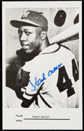Autographs:Post Cards, Hank Aaron Signed Postcard....