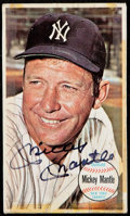 Autographs:Sports Cards, Signed 1964 Topps Giants Mickey Mantle #25....