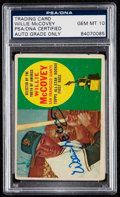 Autographs:Sports Cards, Signed 1960 Topps Willie McCovey #316 PSA/DNA Gem MT 10....
