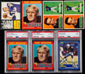 Football Cards:Lots, 1950's- 1980's Football HoFer Rookie Cards (7). ... (Total: 8 items)