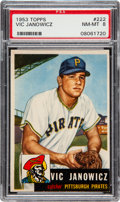 Baseball Cards:Singles (1950-1959), 1953 Topps Vic Janowicz #222 PSA NM-MT 8 -Only Two Higher....