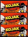"""Non-Sport Cards:Unopened Packs/Display Boxes, 1975 Holland """"Kojak"""" Unopened Box Lot of Three (3)...."""