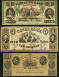 Obsoletes By State:Louisiana, New Orleans, LA- New Orleans Canal & Banking Company $5; $10 18__ Remainders;. New Orleans, LA- Citizens' Bank of Louisian... (Total: 3 notes)