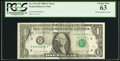 Error Notes:Ink Smears, Solvent Smear Fr. 1914-H $1 1988 Federal Reserve Note. PCGS ChoiceNew 63.. ...