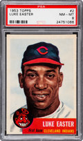 Baseball Cards:Singles (1950-1959), 1953 Topps Luke Easter #2 PSA NM-MT 8 - Only Three Higher....