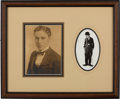 Movie/TV Memorabilia:Autographs and Signed Items, Charlie Chaplin Signed Photo in a Framed Display (1921)....