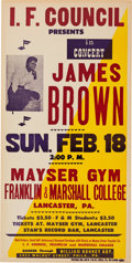 Music Memorabilia:Posters, James Brown Mayser Gym College Concert Poster (I.F.C. Council, 1965). ...