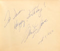 Movie/TV Memorabilia:Autographs and Signed Items, Marilyn Monroe, Tony Curtis, Jack Lemmon, Arthur Miller and OthersSigned Autograph Book (Circa 1958-1961)....