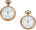 Timepieces:Pocket (post 1900), Ball ORC & BRT Official Standard 17 Jewel 16 Size Watches. ...(Total: 2 Items)