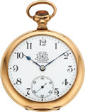 Timepieces:Pocket (pre 1900) , Ball (Hamilton) Official B of LE Standard 17 Jewel 18 Size. ...